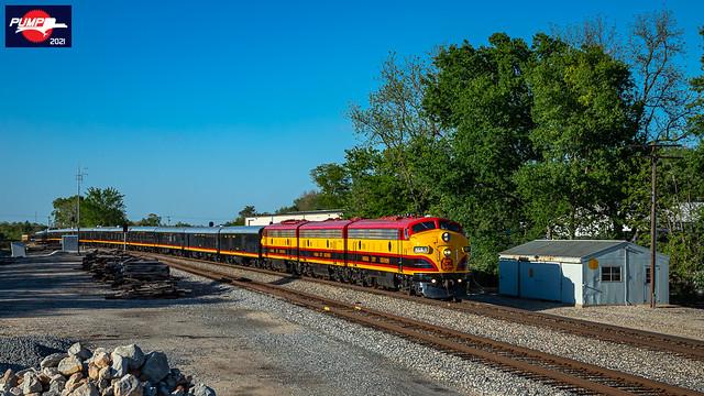 Southbound KCS Business Passenger Train at Grandview, MO