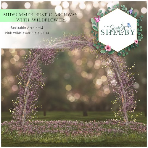 Simply Shelby Midsummer Rustic Archway with Wildflowers
