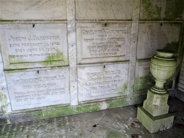 Tombs in Darlington mausoleum, Oak Hill Cemetery, Georgetown, Washington, D.C.