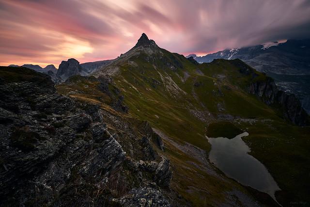 dawn in the alps