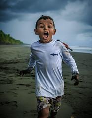 Edrian at the beach