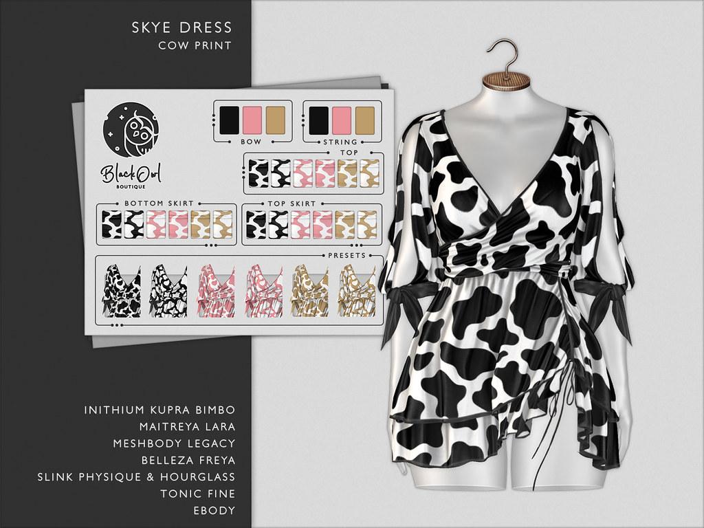 Black Owl – Skye – Cow Print – AD