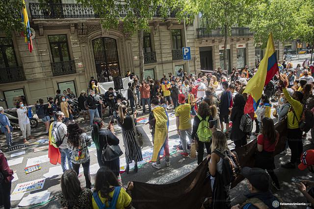 07_05_2021 Concentració davant el Consolat de Colombia
