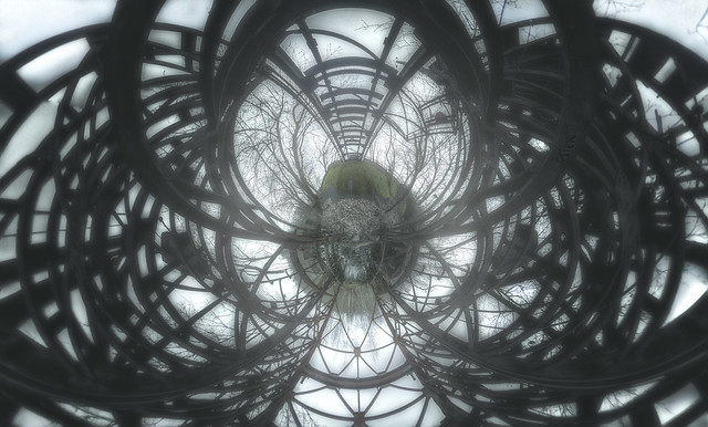 stereographic steel web