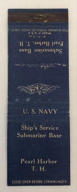 SHIP SERVICE SUBMARINE BASE PEARL HARBOR TERRITORY OF HAWAII (2)