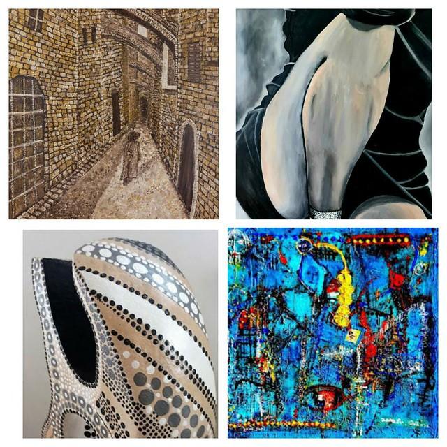 ציירות עכשוויות ציירת ישראלית עכשווית מודרנית שרה זלוטי רחל פרנק איילת בוקר יוצרת אמנית  פרידה פירו