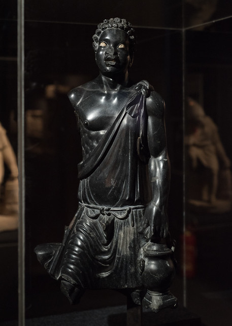 Roman marble statue of an enslaved African bath attendant, from Aphrodisias
