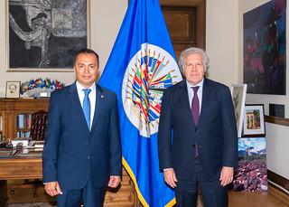 2021 MAY 7 Secretary General Meets with Special Envoy of El Salvador to the OAS