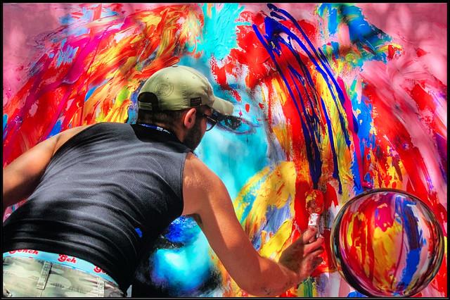 La main de l'artiste