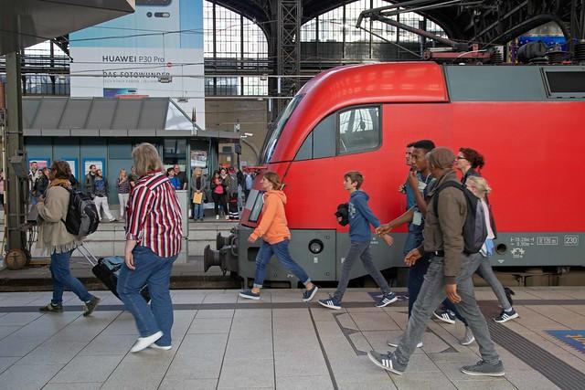 Rush hour, Hamburg Hbf