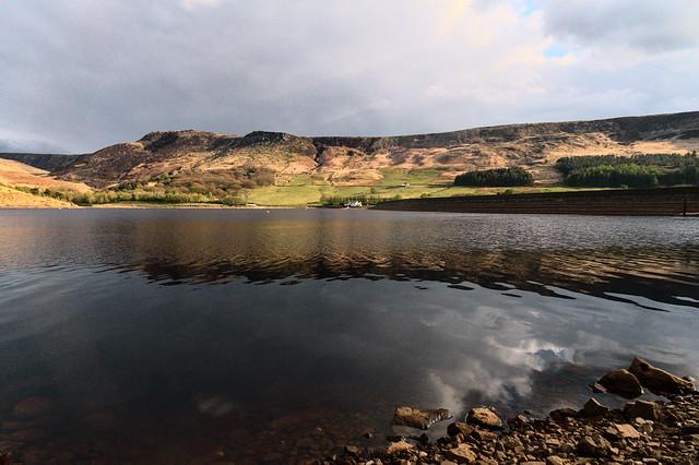 Reflections over Yeoman Hey reservoir