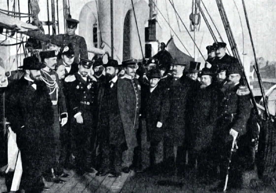 1901. Участнии Шпицбергенской экспедиции на транспорте «Бакан». 7 октября