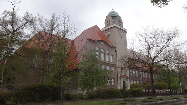 1907/09 Berlin repräsentatives Arndt-Gymnasium von Friedrich Hennings/Wilhelm Hennings Königin-Luise-Straße 80-84 in 14195 Dahlem
