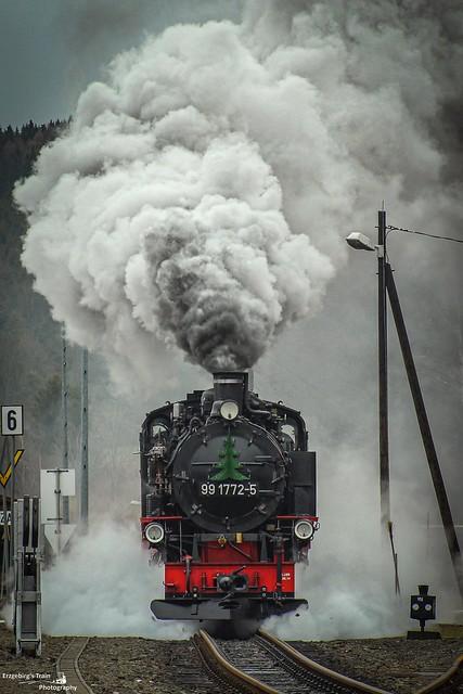 Steampower auf der Fichtelbergbahn...