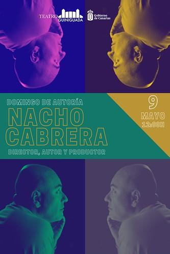Cartel del ciclo Domingos de Autoría dedicado a Nacho Cabrera