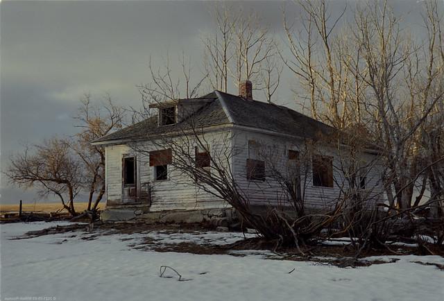 Abandoned House at Dusk, East of Brooks AB, 1995