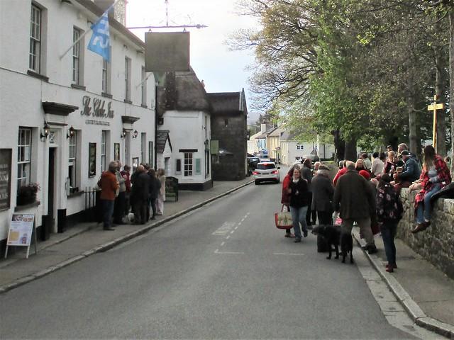Chagford outside the Globe Inn Dartmoor