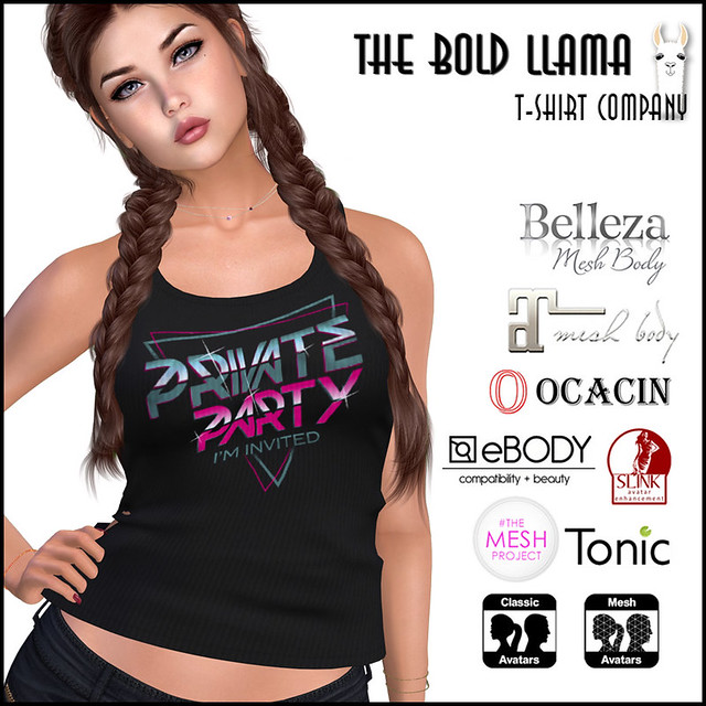 The Bold Llama: PRIVATE PARTY Tee