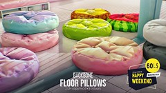BackBone Floor Pillows for Happy Weekend