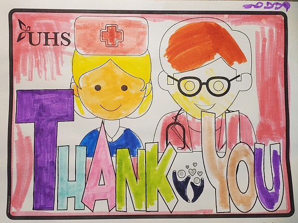 Thank you UHS healthcare workers!