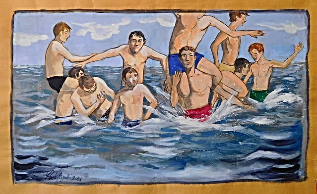 Giochi nell'acqua (10 ragazzi) - Games in the water (ten boys)
