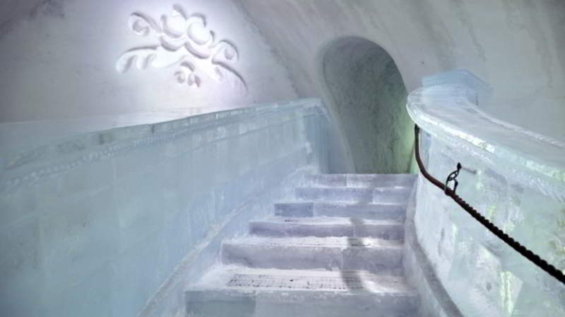 Frozen staircase