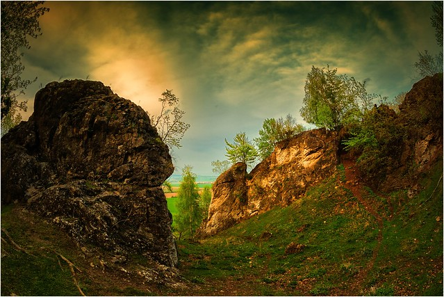 Felsen im Frühling