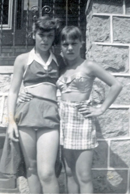 Two Teenage Girls Pose Together, 1950s