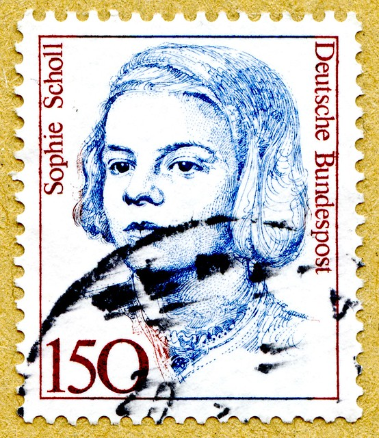 *in memory* Sophie Scholl (May/09/1921- murdered Feb/22/1943) resistance fighter against Nazi-Regime; White Rose non-violent resistance group; anti-Nazi political activist; Germany € 150c tmbres Allemagne  우표 독일 유럽 sellos Alemania selos Alemanha γραμματόσ
