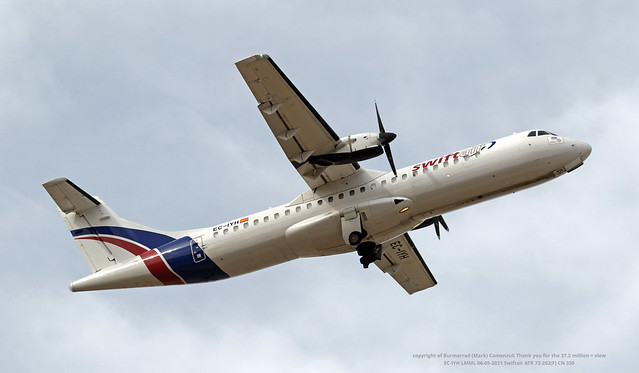 EC-IYH LMML 06-05-2021 Swiftair ATR 72-202(F) CN 330