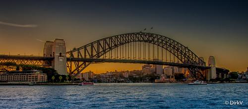 sydney sydneyharbourbridge sunset zonsondergang bridge travel traveling australia australië