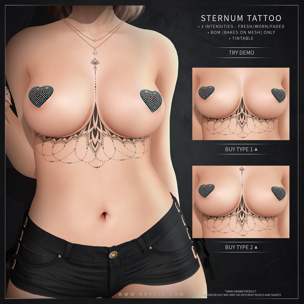 Sternum tattoo 70L$ Weekend sale