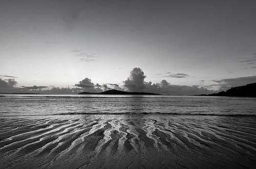 water sunrise morning beach fingalbay