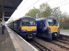 Class 320/4 & Class 334 @ Milngavie - 8th May 2021