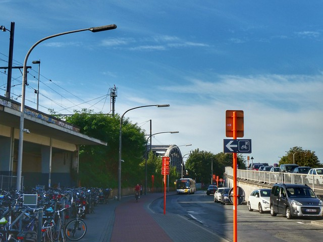 Near the station