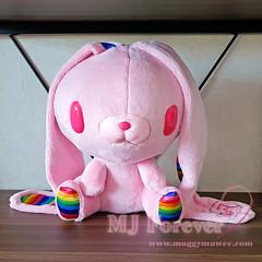 Chax Bunny Pink Rainbow Plushie