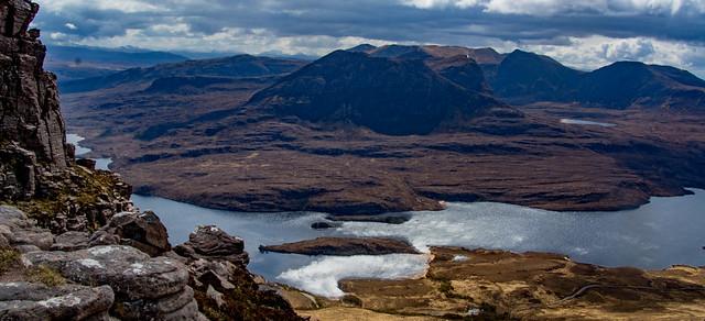 Ben Mor Coigach beyond the loch