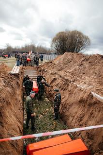 08.05.2021 | Церемония перезахоронения воинов в деревне Мясной Бор