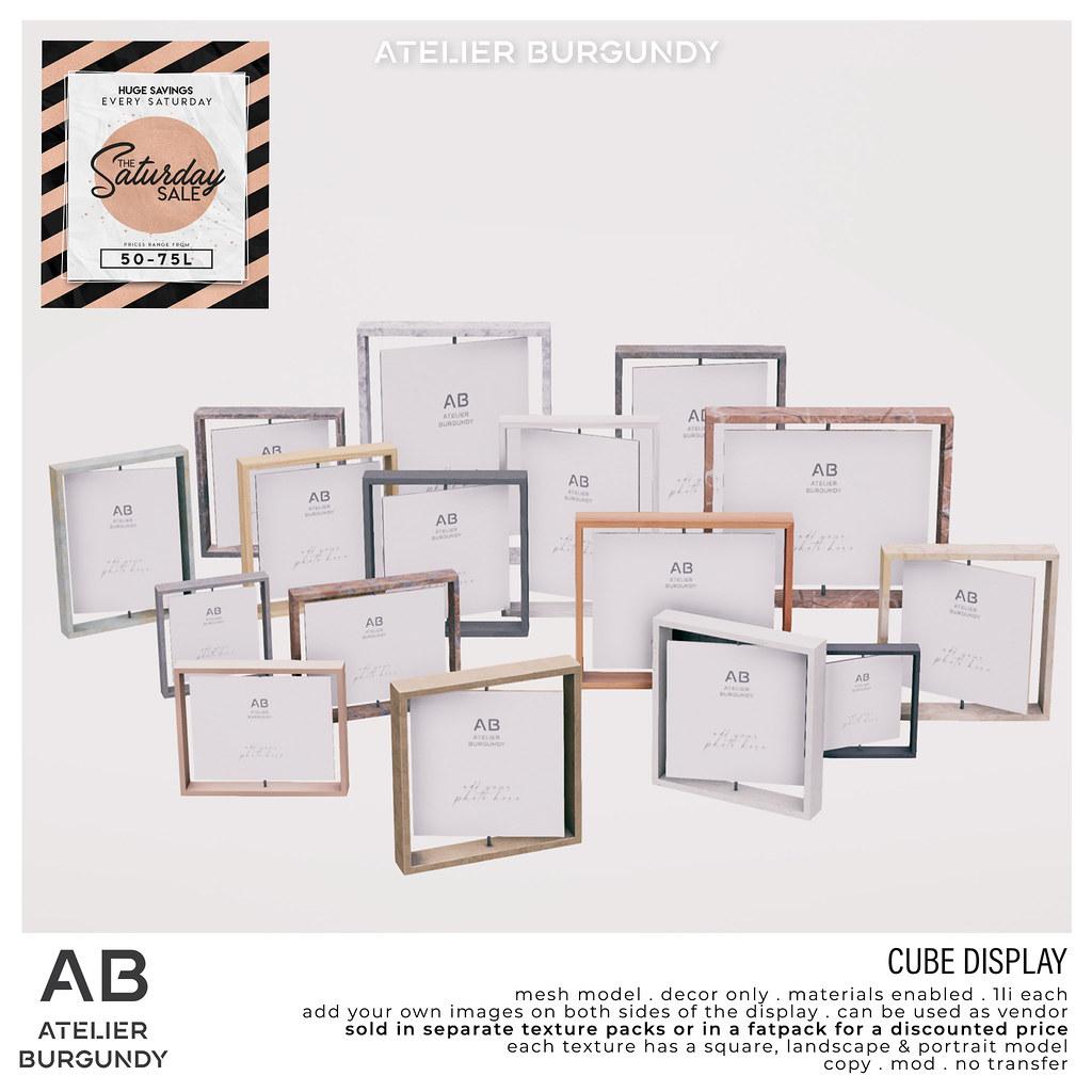 Atelier Burgundy . Cube Display