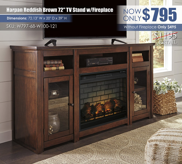 Harpan 72 in TV Stand with Fireplace_W797-68-W100-121