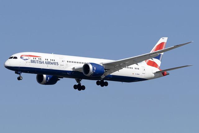 British Airways 787-9 Dreamliner G-ZBKF at Heathrow Airport LHR/EGLL