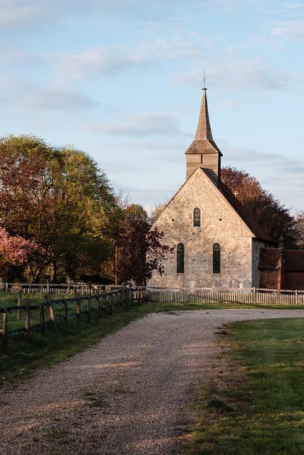 The beautiful setting of St. Germanus Church Faulkbourne Essex
