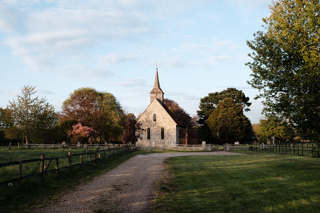 St. Germanus Church nestled between beautiful trees
