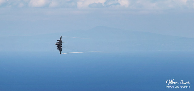USAF Boeing F-15E Strike Eagle 91-0301 low level in Northern England