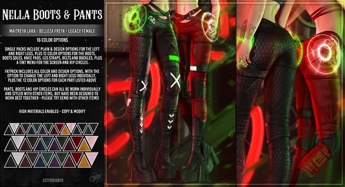 AsteroidBox. Nella Boots & Pants @ CyberPunk