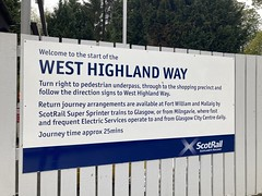 Scotrail West Highland Way sign - 8th May