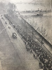 I found this picture in an old newspaper in the mid 1980s,it is the mourners in London ,after the sad death of King George V1 ,this was at Sandringham 6th February 1952. There is a Ham River AEC Monarch -half cab ,in shot.