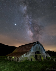Boxley Barn with the Milky Way