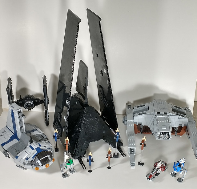All of my minifigure scale ships together!