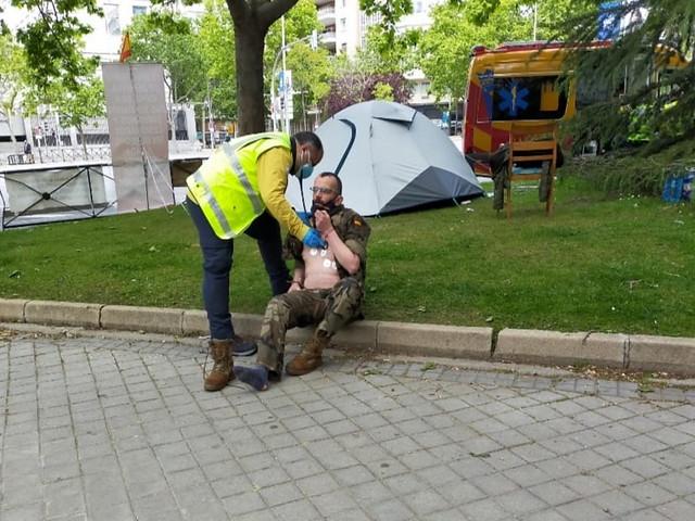 Huelga de hambre del soldado herido en el Ejército español Agustín Fariña